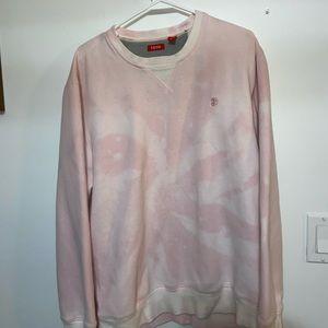 Pink bleached sweatshirt/ custom by me!!